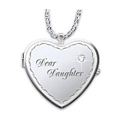 Dear Daughter Engraved Watch Pendant Necklace