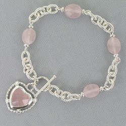 Rose Quartz Pendant Bracelet