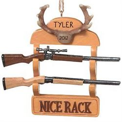 Personalized Gun Rack Ornament