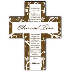 Personalized Marriage Prayer Tree of Life Cross