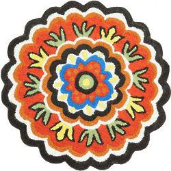 Phoebe Round Flower Rug