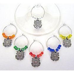 Coast Guard Wine Glass Charms
