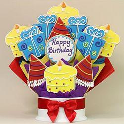 Happy Birthday Surprise Dozen Cookie Bouquet