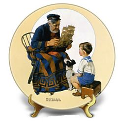 2013 Sea Captain And Boy Norman Rockwell Collectible Plate