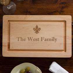 Engraved Maple Cutting Board with Serving Handles