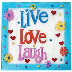 Live, Love, Laugh Glass Platter