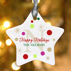 Holiday Star Personalized Christmas Ornament