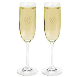 Personalized Monogrammed Champagne Flutes