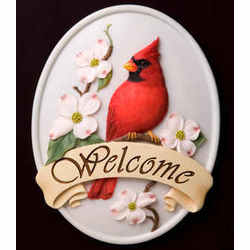 Cardinal Welcome Plaque