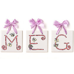 Personalized Butterfly Name Tiles
