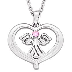 Heavenly Angel Heart Pendant