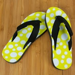 Yellow Polka Dot Pro Fit Sandals