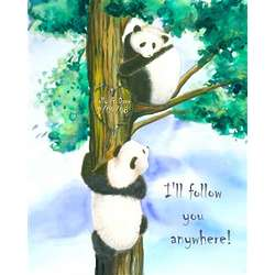 Personalized Follow the Panda Print