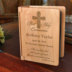 Personalized My First Holy Communion Wooden Photo Album