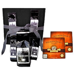 Manhattan Ground Coffee Gift Box with Rum Cakes