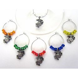 Marines Wine Glass Charms