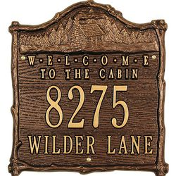 Personalized Cabin Welcome Plaque