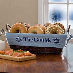 Personalized Hanukkah Wicker Basket