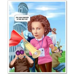 The Professional Guide Caricature Print from Photo
