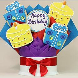 Happy Birthday Surprise 5 Piece Cookie Bouquet