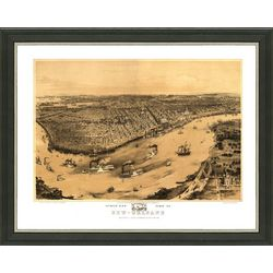 Framed Map of Vintage New Orleans