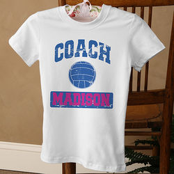 Personalized Sports Coach Women's White T-Shirt