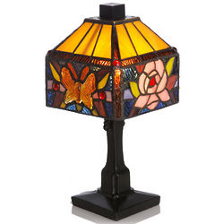 Sentimental Butterfly and Rose Memory Lamp