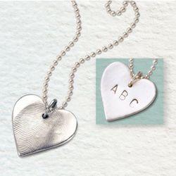 Personalized Fingerprint Heart Charm