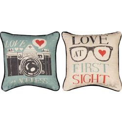 Vintage Love at First Sight Pillow