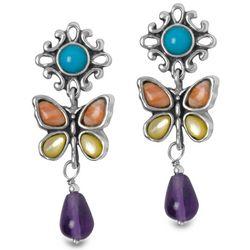Mariposa Butterfly Drop Earrings