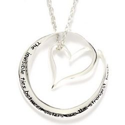 Invisible Ties Between Sisters Silver Necklace