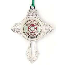 Personalized Coast Guard Cross Ornament
