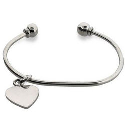 Tiffany Style Sterling Silver Bracelet with Heart Charm