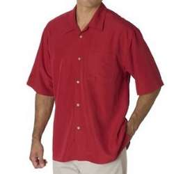 Men's Small Poker Red Shadow Box Shirt