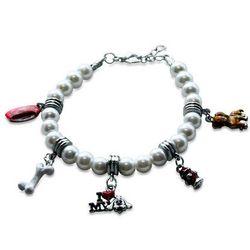 Dog Lover Charm Bracelet in Silver