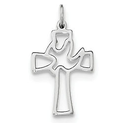 Holy Spirit of Promise Dove Cross Pendant