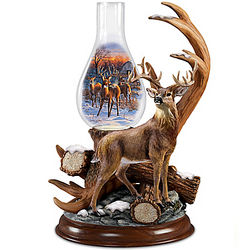 Out of the Clearing Deer Sculpture Accent Lamp