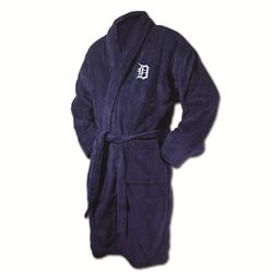 Detroit Tigers Blue Terrycloth Bathrobe
