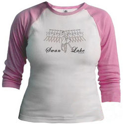 Swan Lake Jr. Raglan Shirt