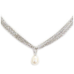 Fresh Water Pearl Solitaire Pendant in Silver
