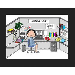 Personalized Cubicle Sweet Cubicle Office Cartoon