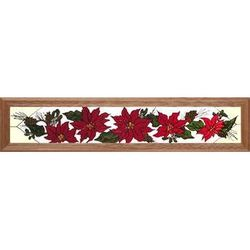 Stained Glass Poinsettia Window