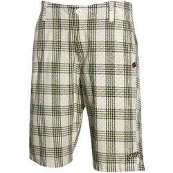 Summertime White Plaid Shorts