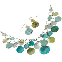 Mother-of-Pearl Necklace and Earrings Set
