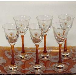 Floral Liqueur Glasses