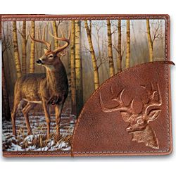 The Buck Stops Here Deer Art Leather Wallet