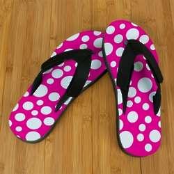 Pink Polka Dot Pro Fit Sandals