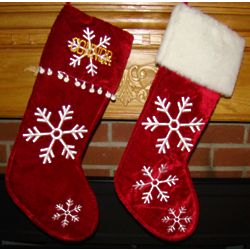 Fluffy Snow Personalized Christmas Stocking
