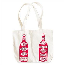 Personalized Canvas Double Wine Tote