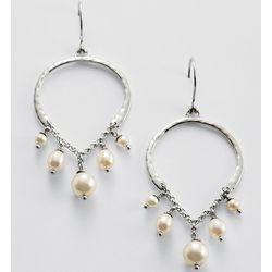 White Pearl Chandelier Earrings